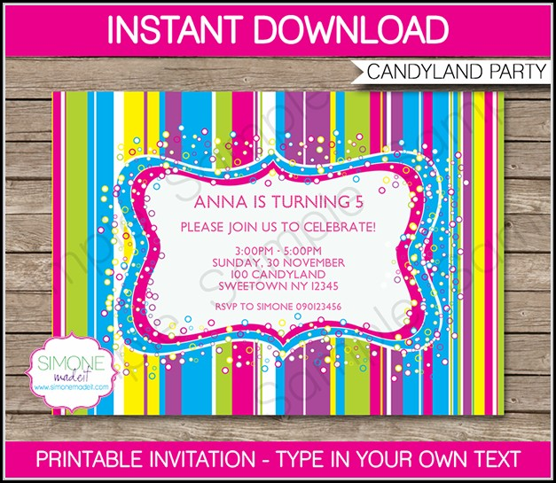 Editable Free 40th Birthday Invitations Templates Template 1