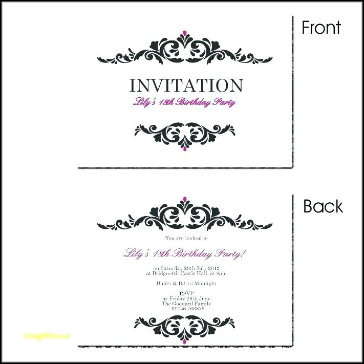 Editable Unicorn Birthday Invitations Templates Free