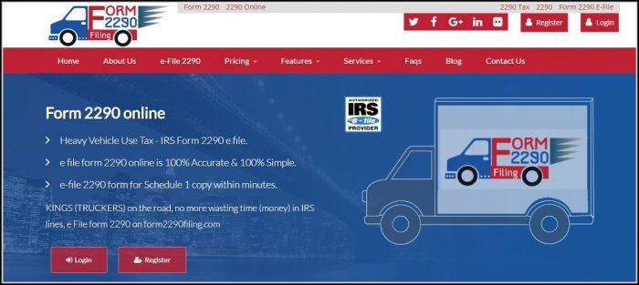 Form 2290 Filing Online