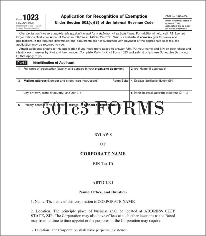 Forming A 501c3 In Illinois