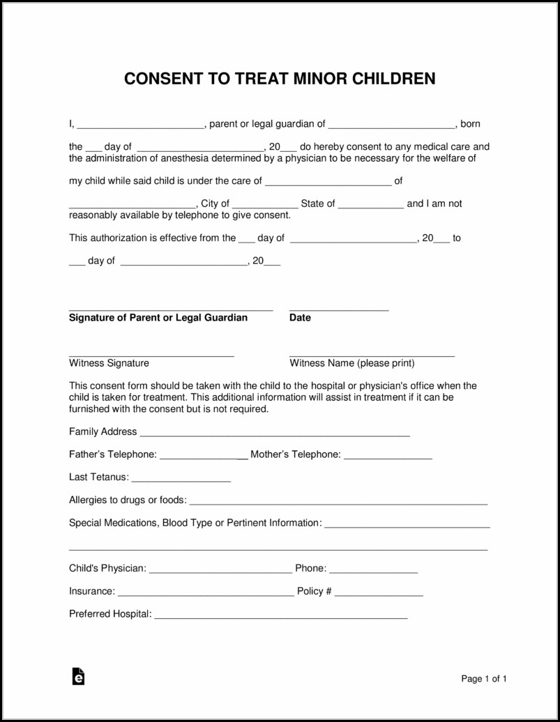 graphic regarding Printable Child Travel Consent Form identified as no cost kid generate consent style template pdf