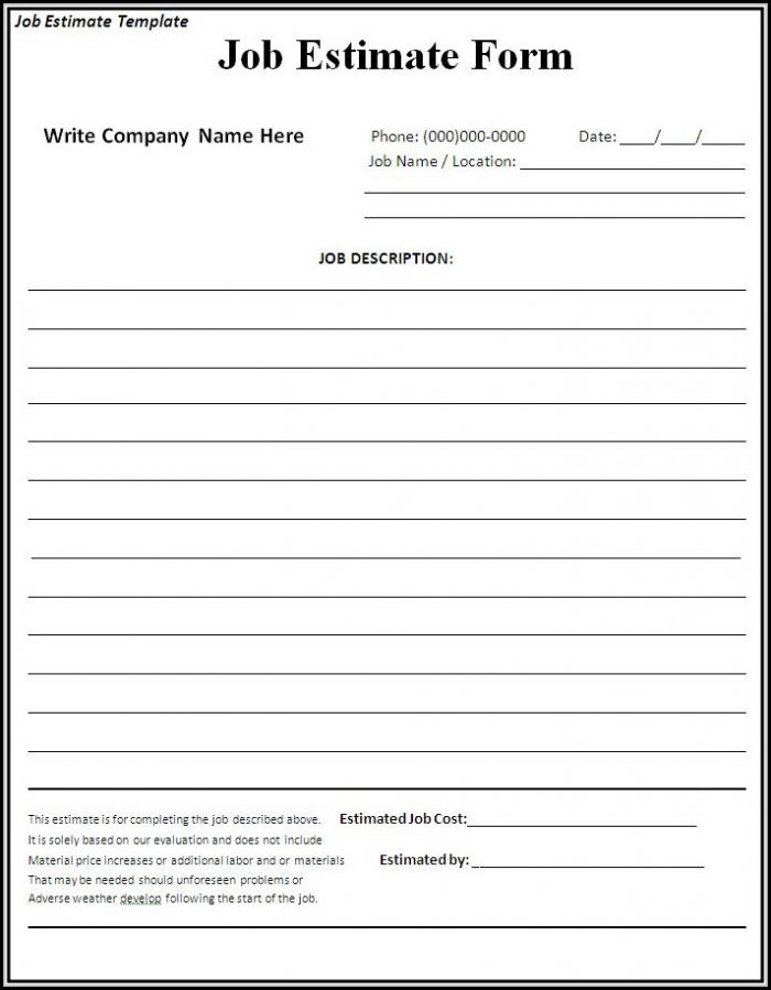 free printable contractor bid forms form resume examples l71xvmg3mx