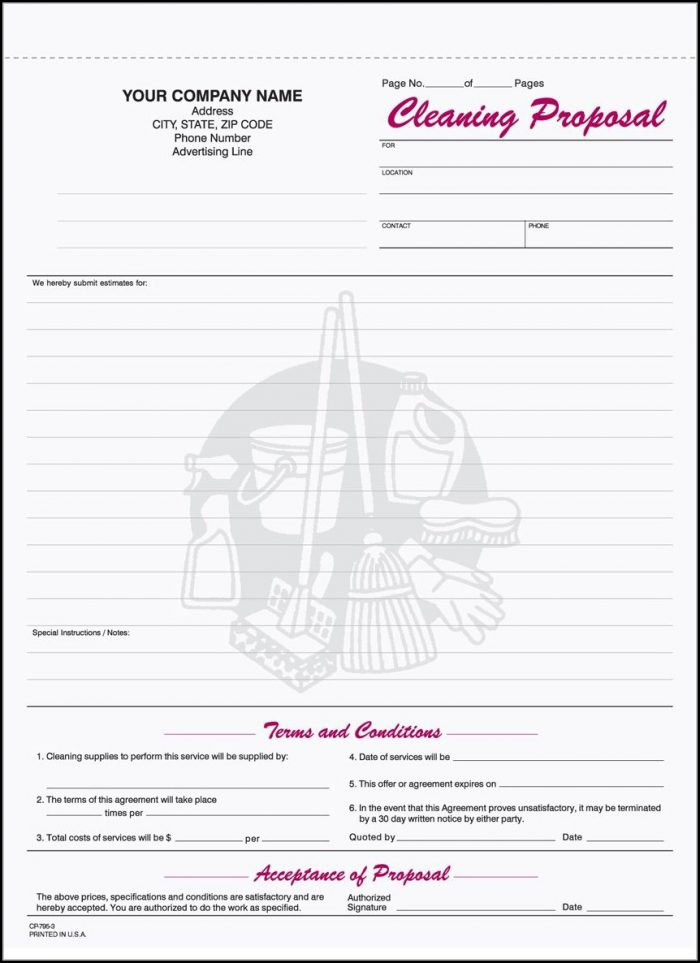 Free Printable Cleaning Business Forms