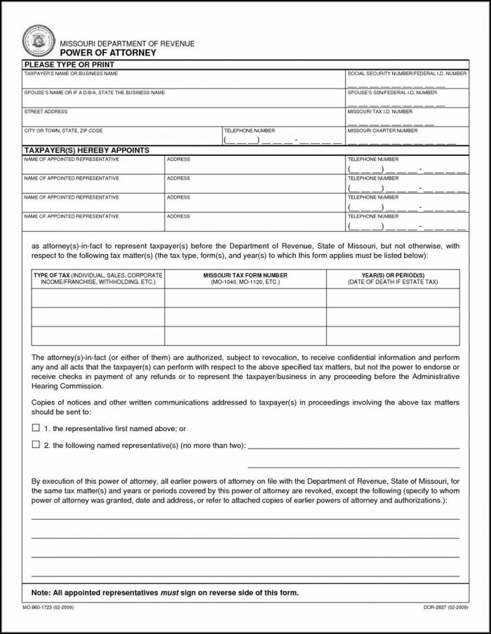 Georgia Power Of Attorney Form 2018