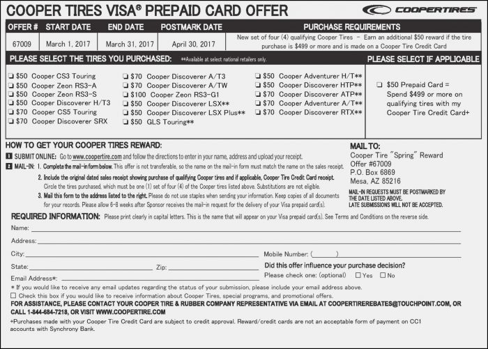 Goodyear Tire Rebate Form Pdf