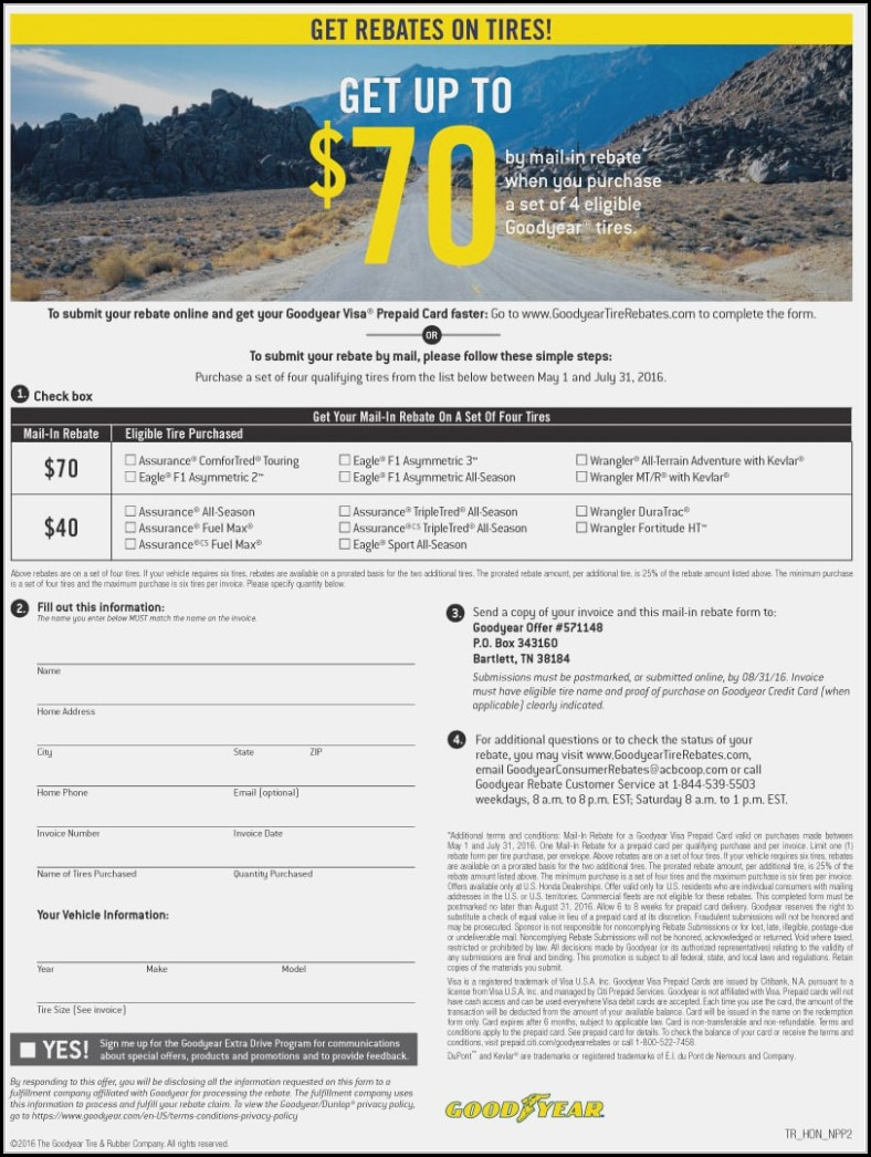 Goodyear Tire Rebate Form Form Resume Examples Rg8dpzw8mq