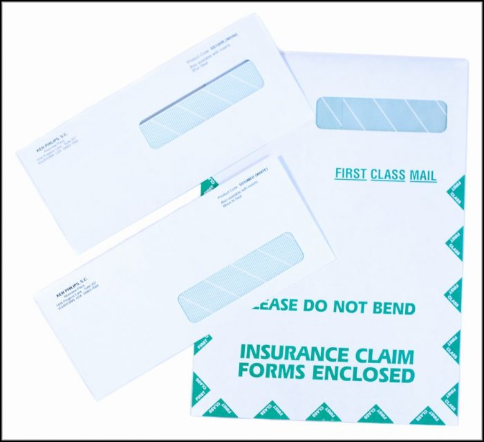 Hcfa 1500 Claim Form Envelopes