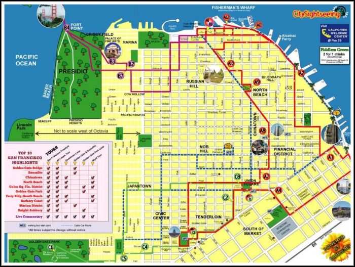 San Francisco Hop On Hop Off Tour Map Map Resume Examples