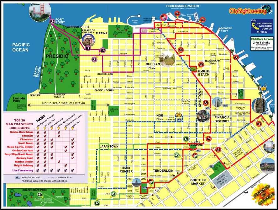 Hop On Hop Off Bus San Francisco Map - Map : Resume Examples #2A1WRzk8ze