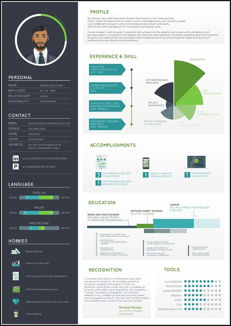 infographic resume builder