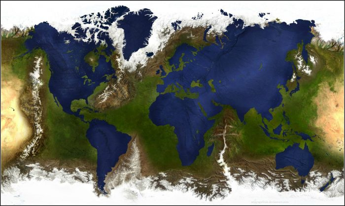 Inverted World Map