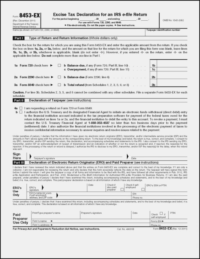 Irs 2290 Form Instructions
