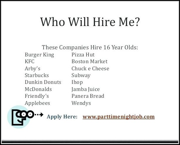 Job Applications Online For 16+