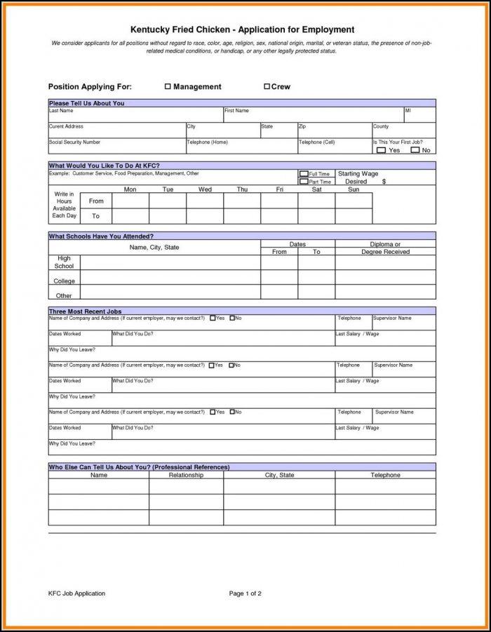 kfc job application online