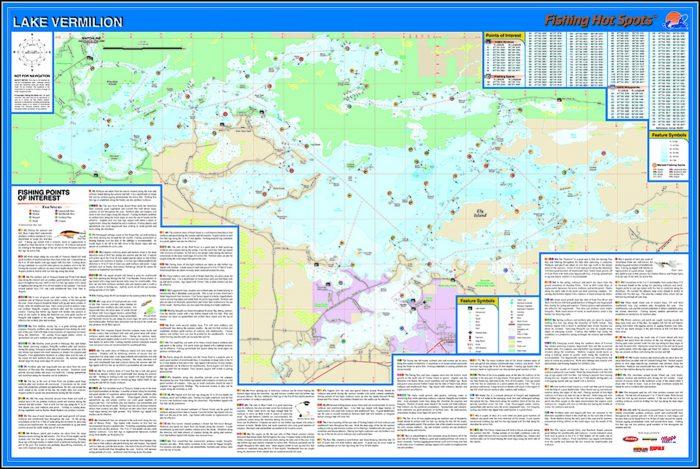Lake Vermilion Fishing Map