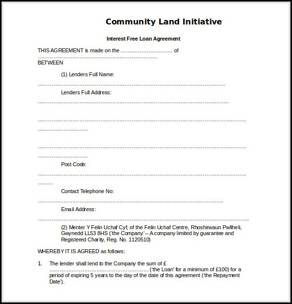 Loan Agreement Templates Free Download