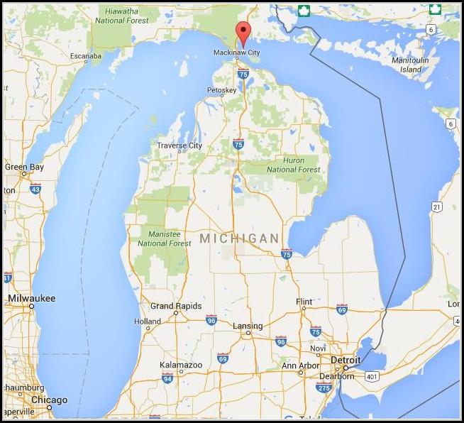 Mackinac Island Michigan Map