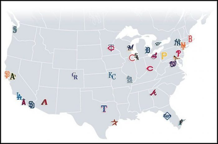 Map Of All Major League Baseball Stadiums