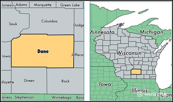 Map Of Dane County Wisconsin