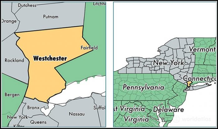 Map Of Westchester County New York
