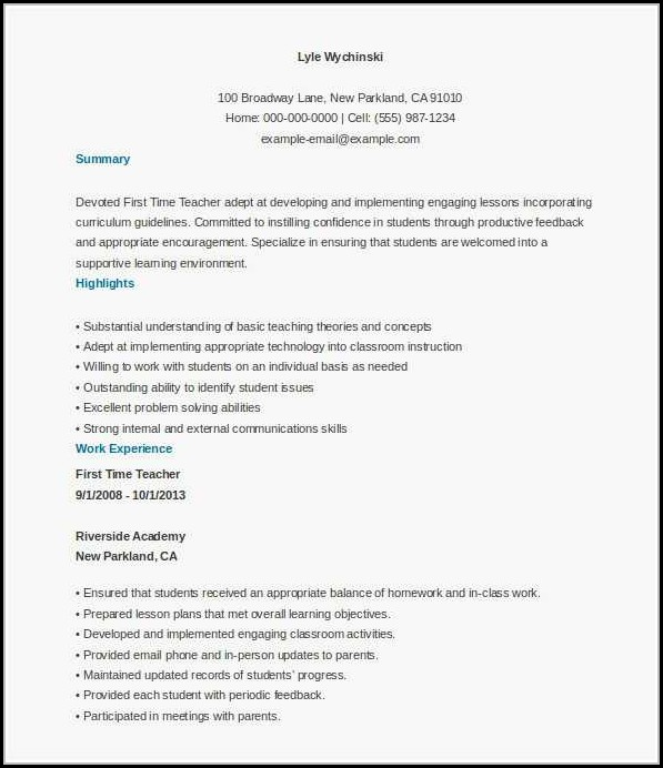 Ministry Resume Format