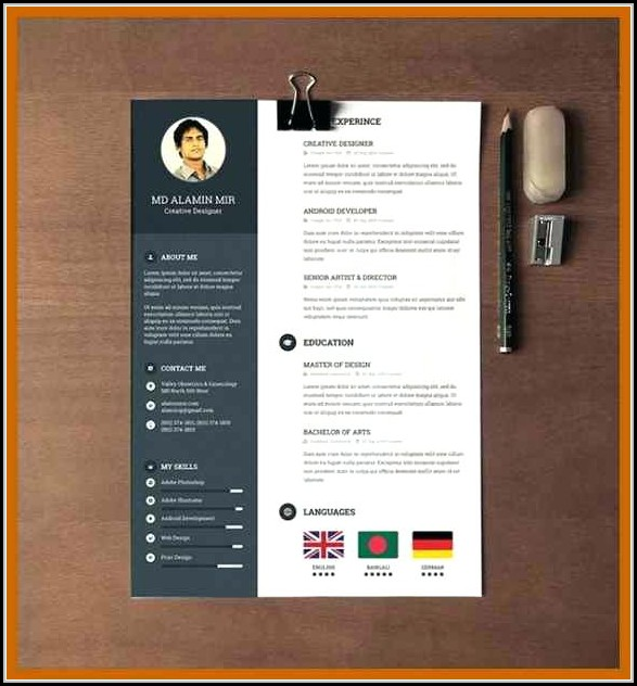 Modern Resume Template Word Free Download Template 2 Resume