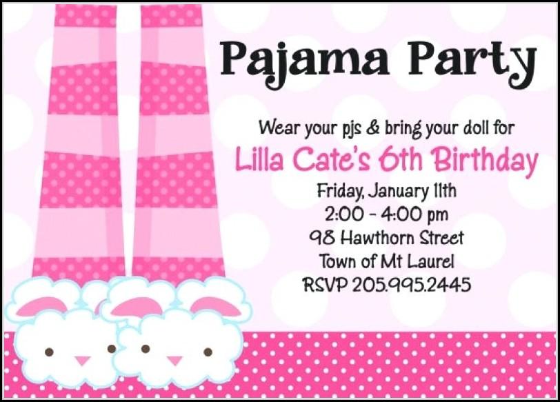 Pajama Party Invitation Templates Free