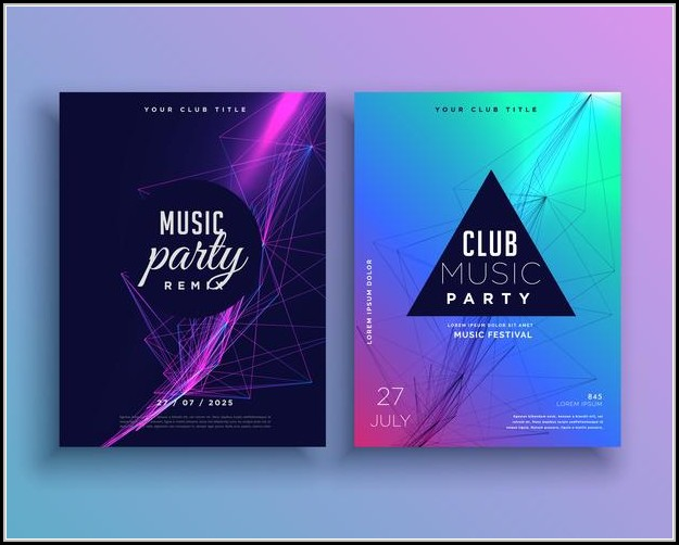Party Invitation Poster Template