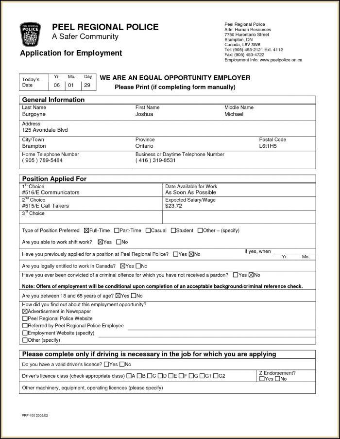 tim hortons employment application form canada job applications