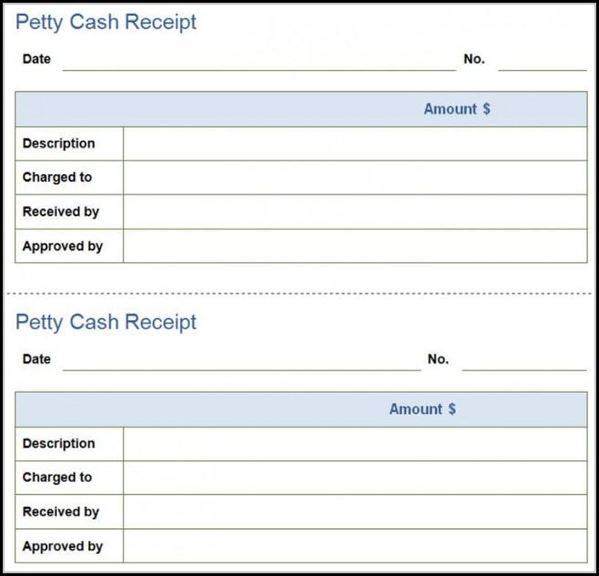 Petty Cash Invoice Template