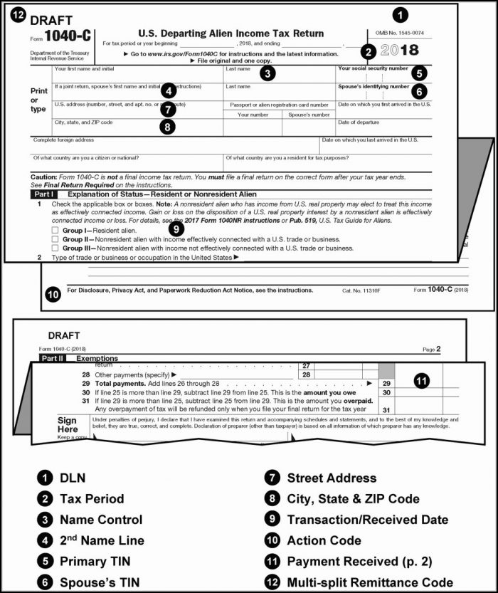 Printable Tax Forms 1040ez 2019