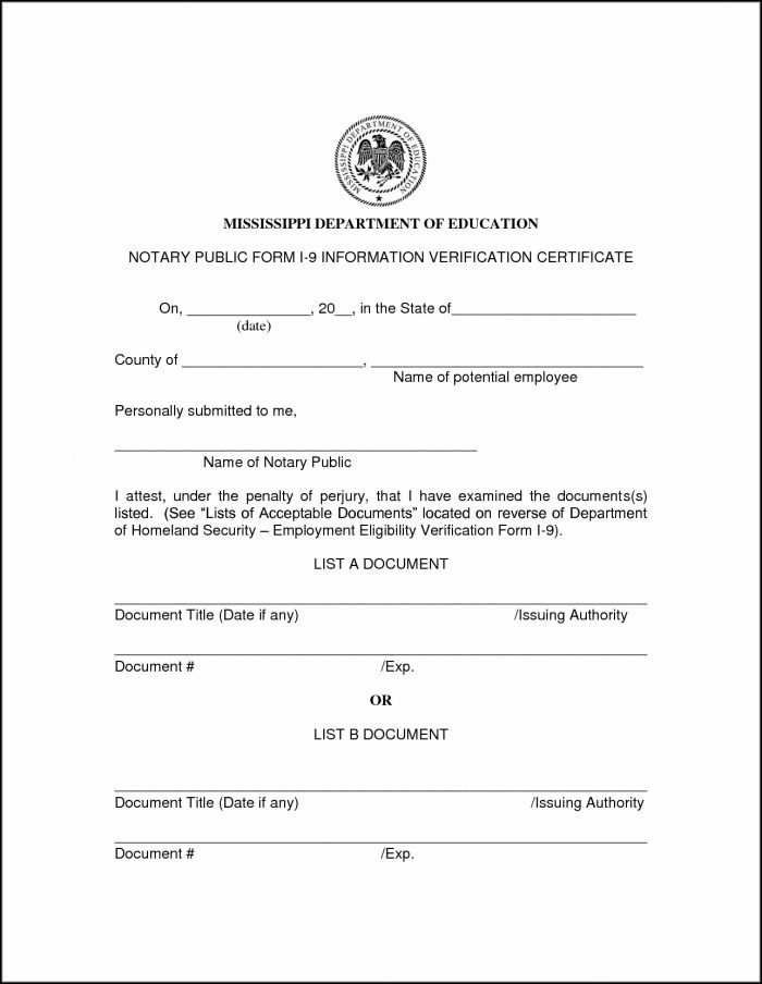 Printable Notary Forms