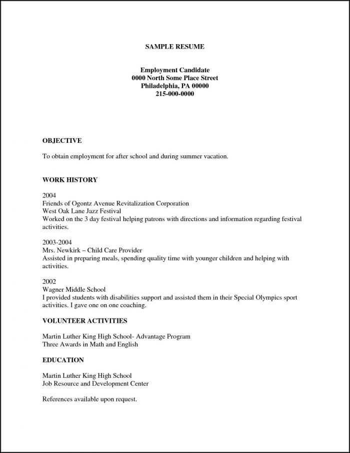 Printable Resume Examples