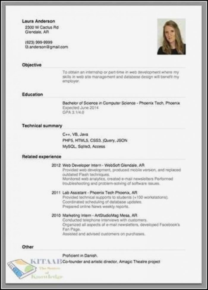Proper Way To Make A Resume