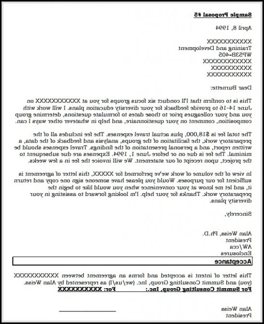 Purchase Order Proposal Template