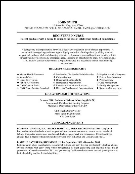 Registered Nurse Resume Templates