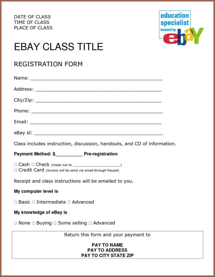 Registration Form Template Free In Html