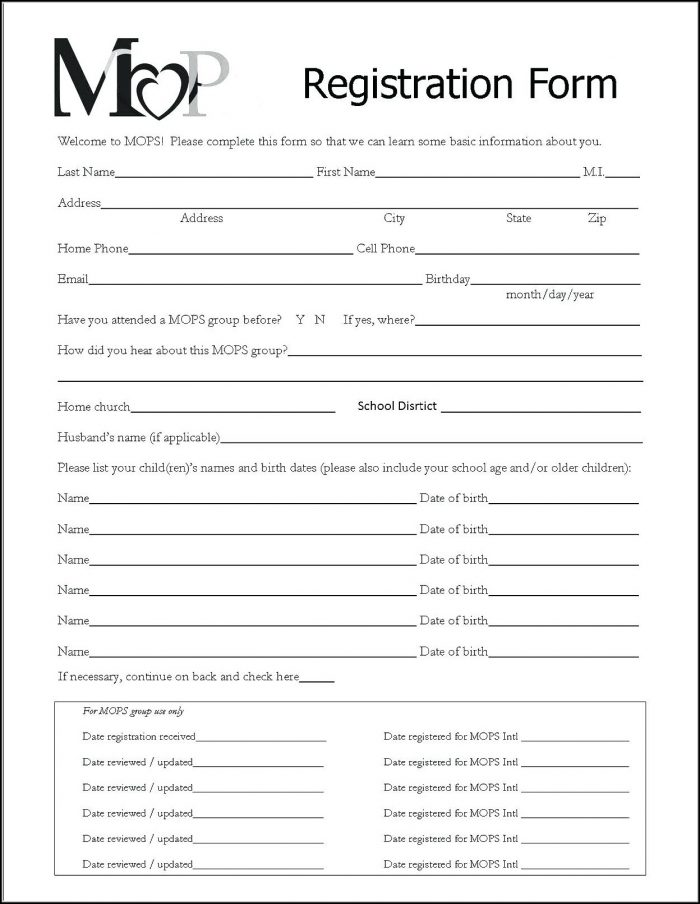 Renters Application Form Template