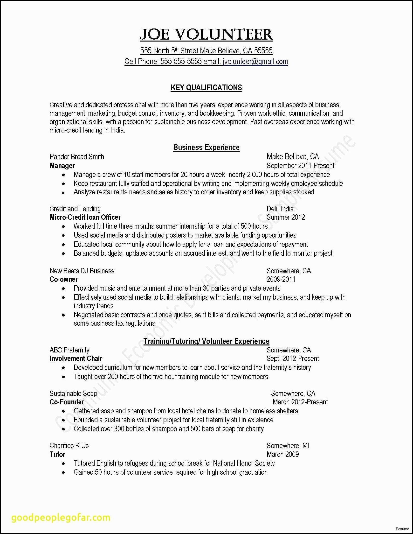 Resume For Driving Job