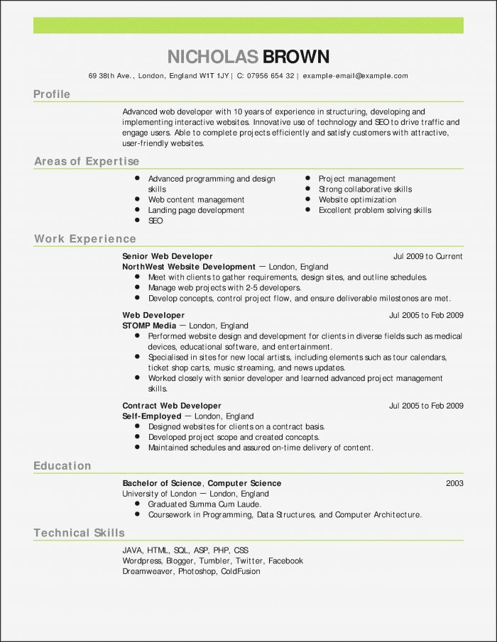 Resume Template Builder Software