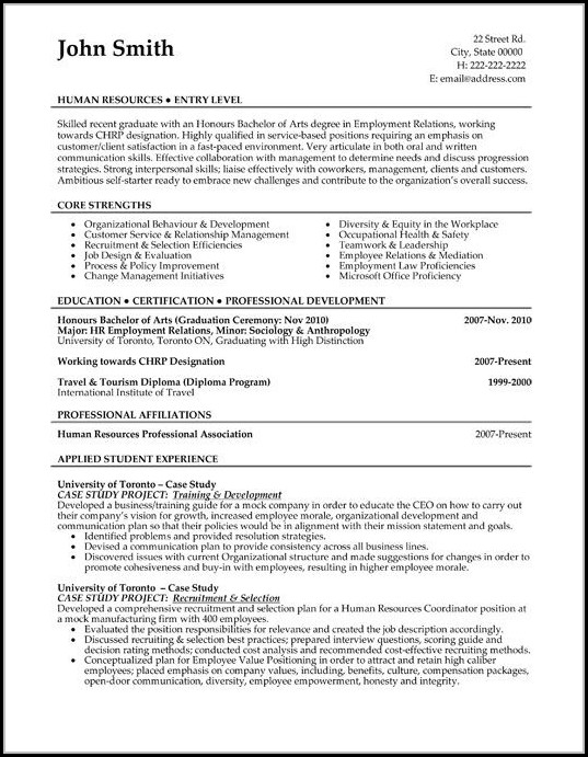 Resume Template For Sales And Marketing