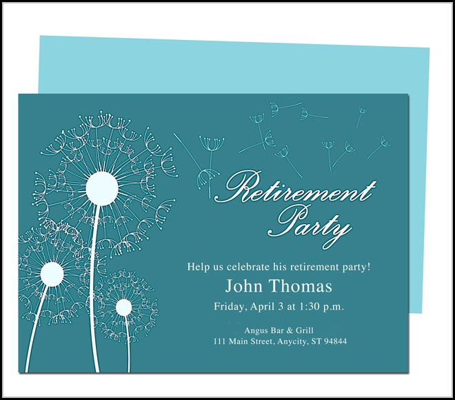 Retirement Invitation Template Microsoft Word