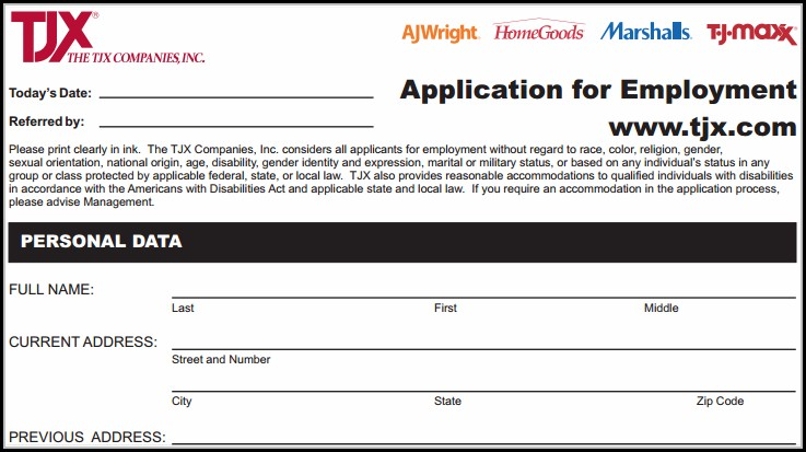 ross-clothing-store-online-job-application Job Application Form For Marshalls on free generic, blank generic, part time,