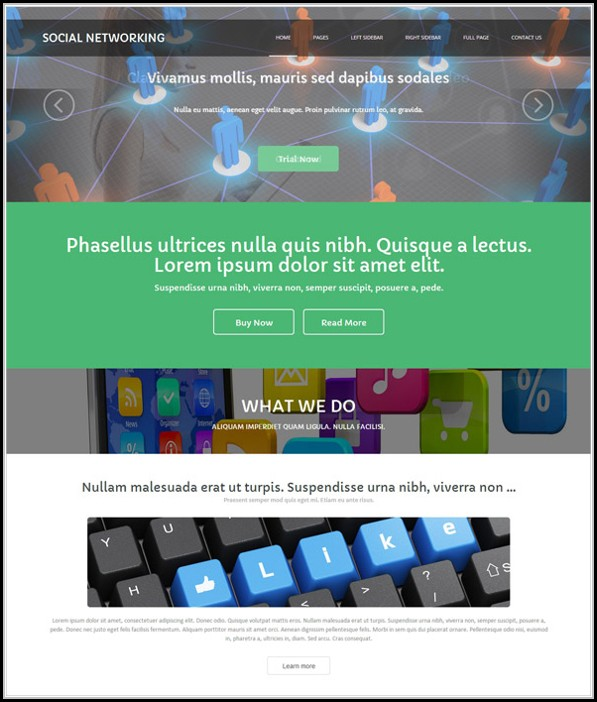 Social Networking Sites Templates Php Free Download