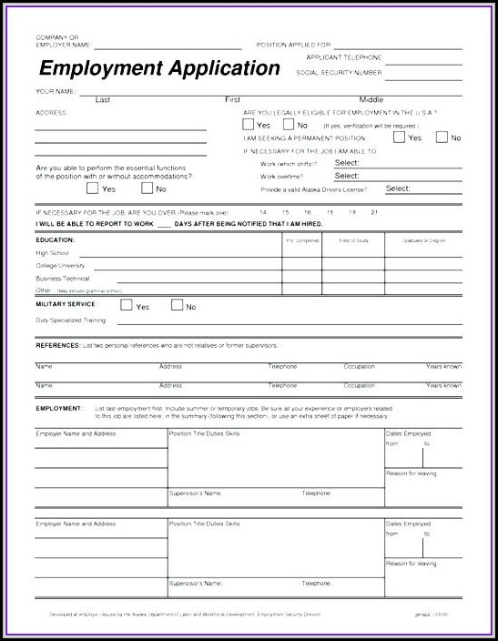 Tow Truck Driver Job Application