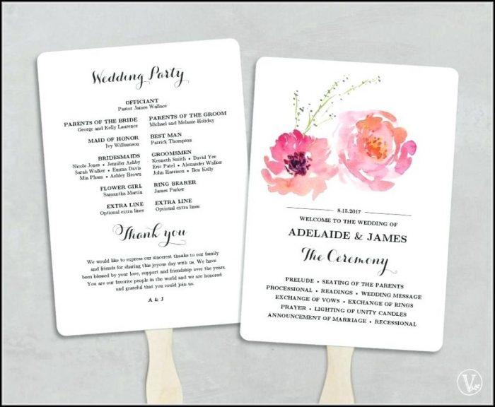 Wedding Fan Programs Templates Free
