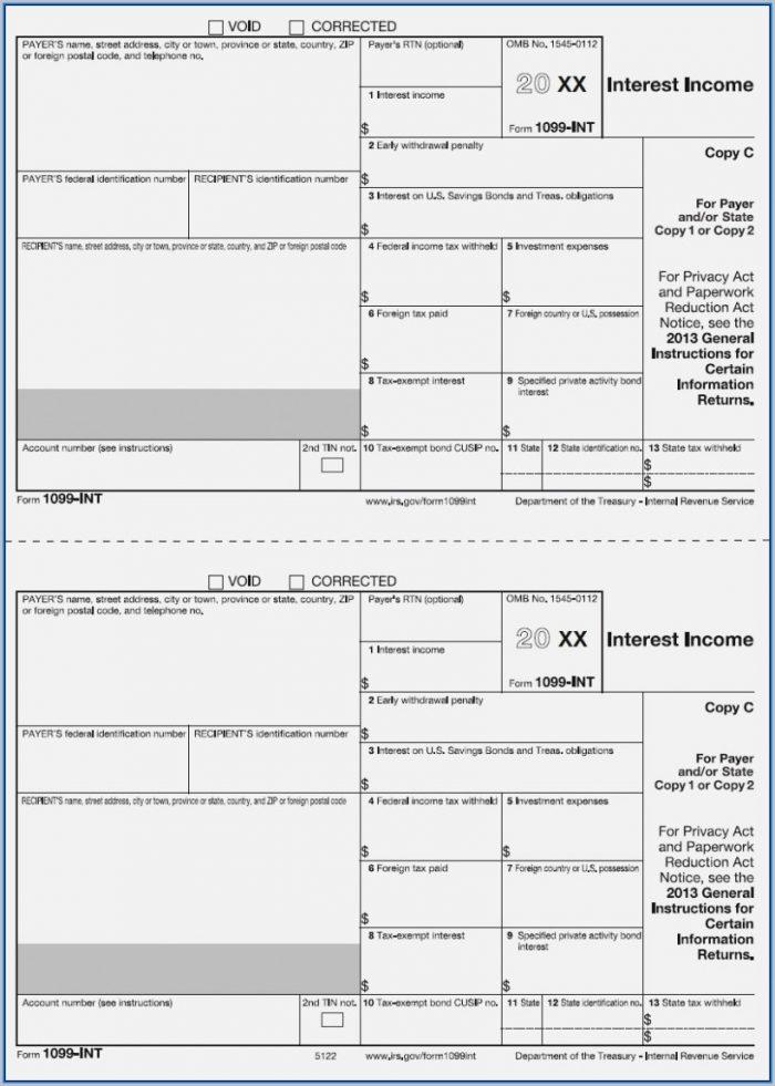 1099 Int Tax Form Printable