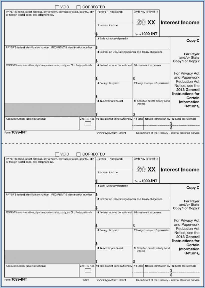 1099 Int Tax Form Printable