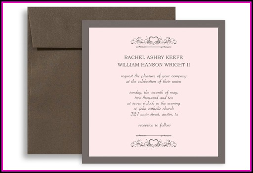 5x5 Wedding Invitation Templates