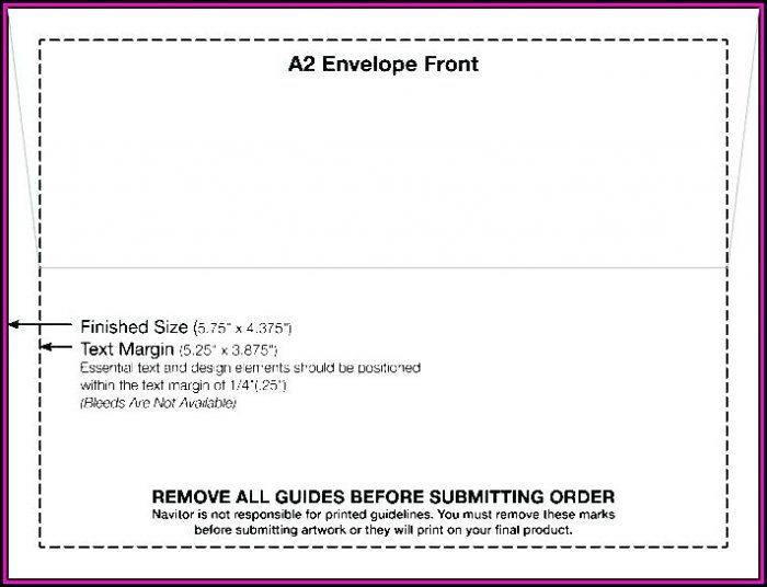 A7 Envelope Size Printing Template Word